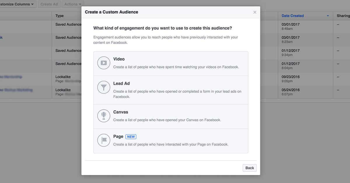facebook célzások - retargeting 2