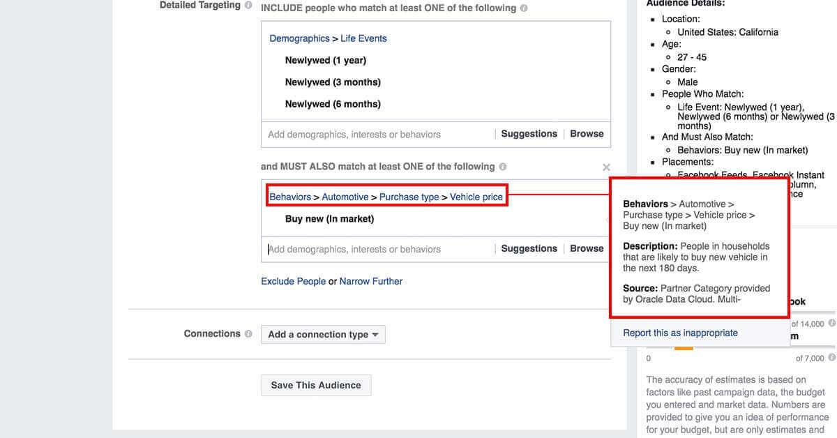 legfejlettebb facebook célzások - Facebok partner kategóriák 2