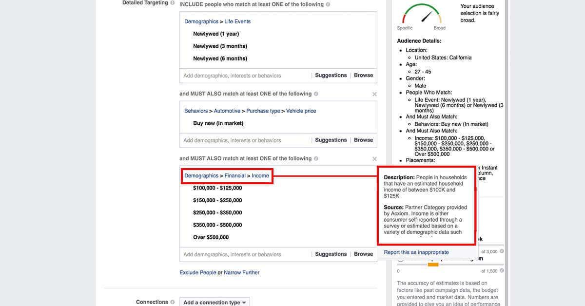 legfejlettebb facebook célzások - Facebok partner kategóriák 3