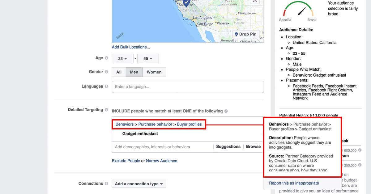 legfejlettebb facebook célzások - Facebok partner kategóriák 4