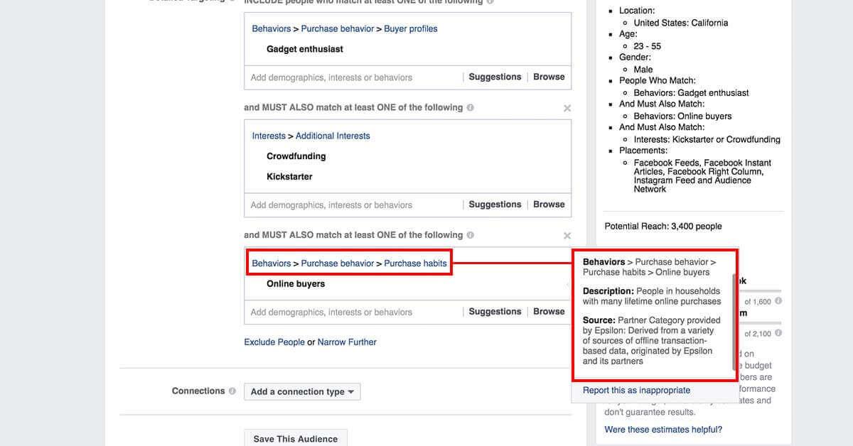 legfejlettebb facebook célzások - Facebok partner kategóriák 6