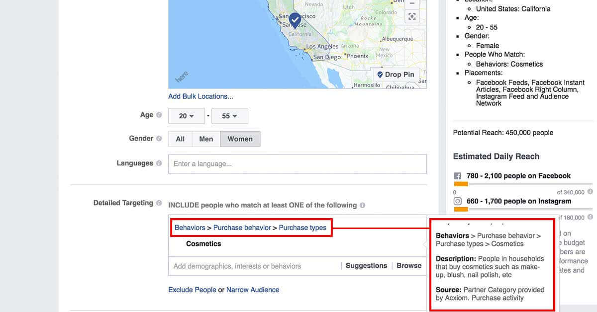 legfejlettebb facebook célzások - Facebok partner kategóriák 7