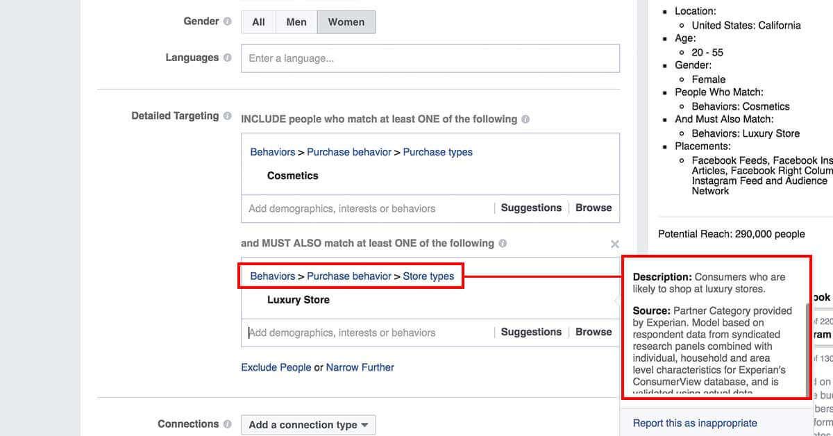 legfejlettebb facebook célzások - Facebok partner kategóriák 8