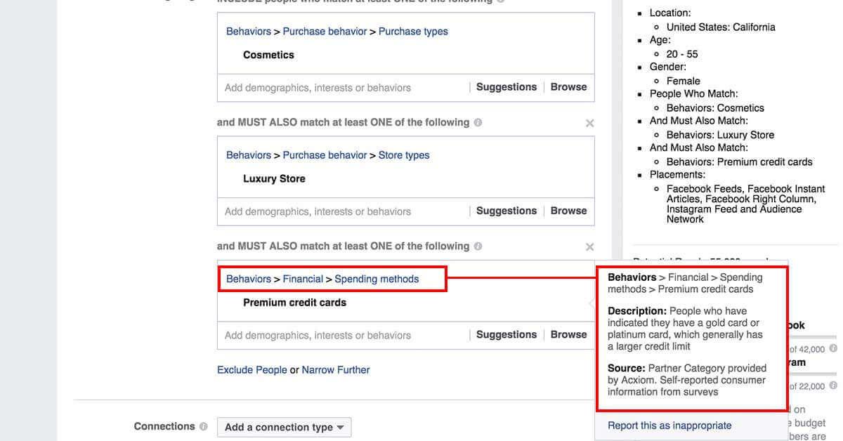 legfejlettebb facebook célzások - Facebok partner kategóriák 9