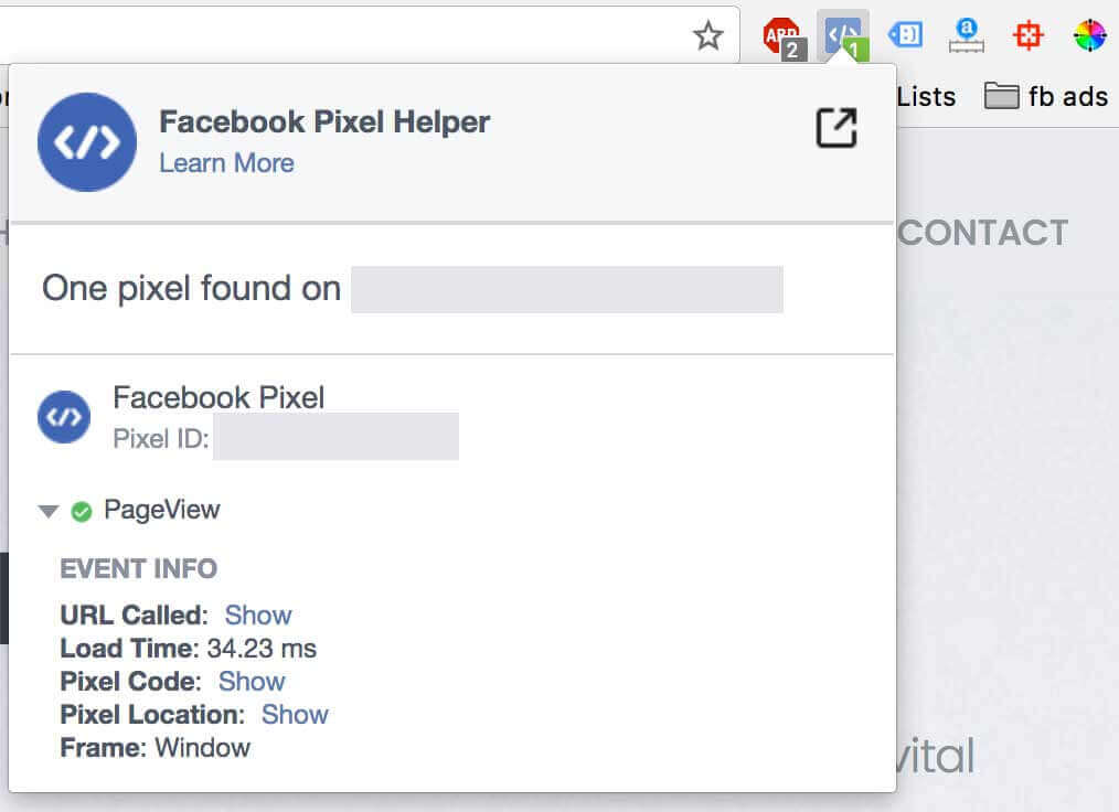 facebook hirdetési technika - facebook pixel helper