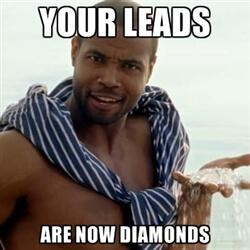 your leads are now diamonds