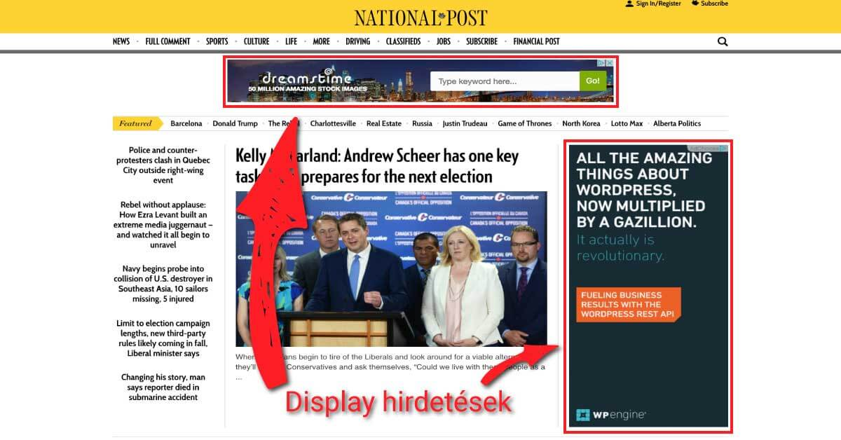 adwords kampány hirdetés display minta screenshot