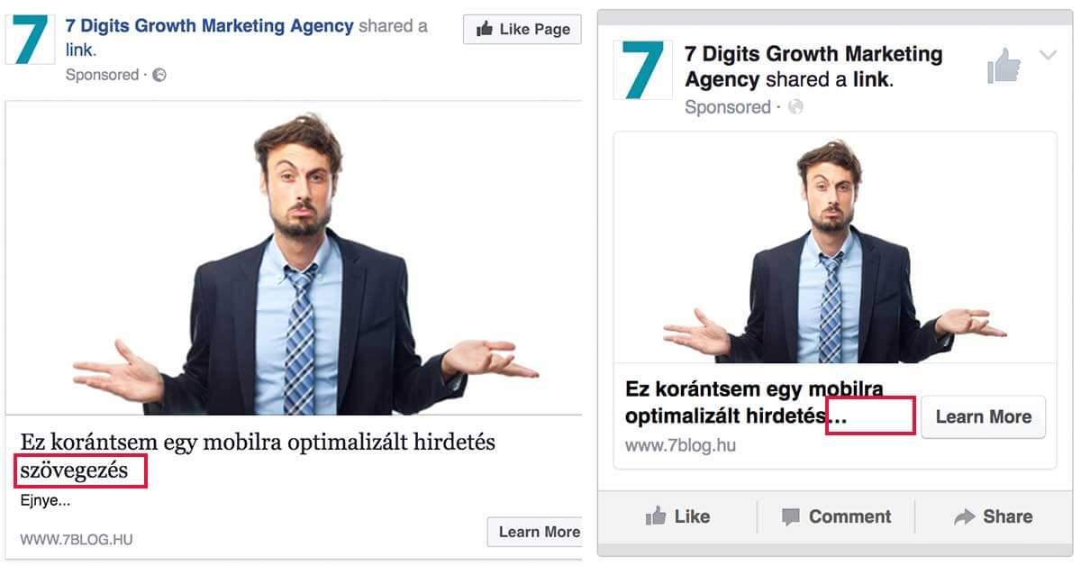facebook hirdetés szövegezés