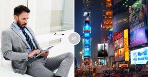 search vs display adwords kampány hirdetések