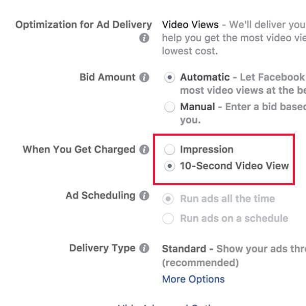 facebook videó kampánycél 2