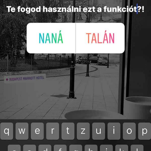 instagram sztori szavazás