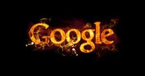 google keresőoptimalizálás cover fotó lángoló Google logóval