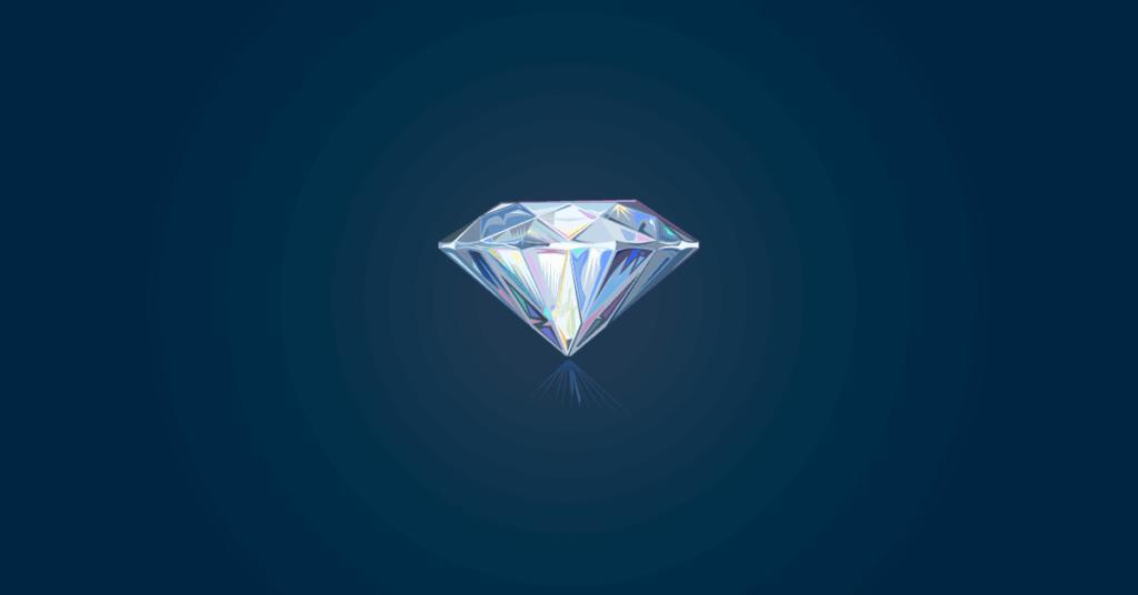 tartalommarketing a gyakorlatban illusztrációja egy gyémánttal