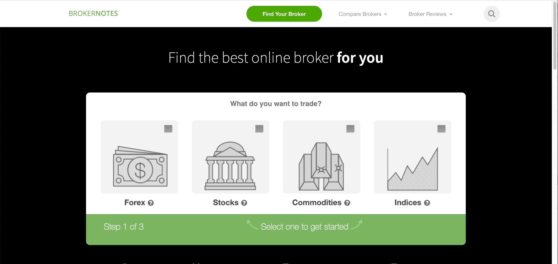 lead generálás űrlapok segítségével - Brokernotes.co screenshot