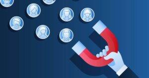 facebook hirdetés tippek lead ad mágnest tartó kéz sok stilizált ember ikonnal